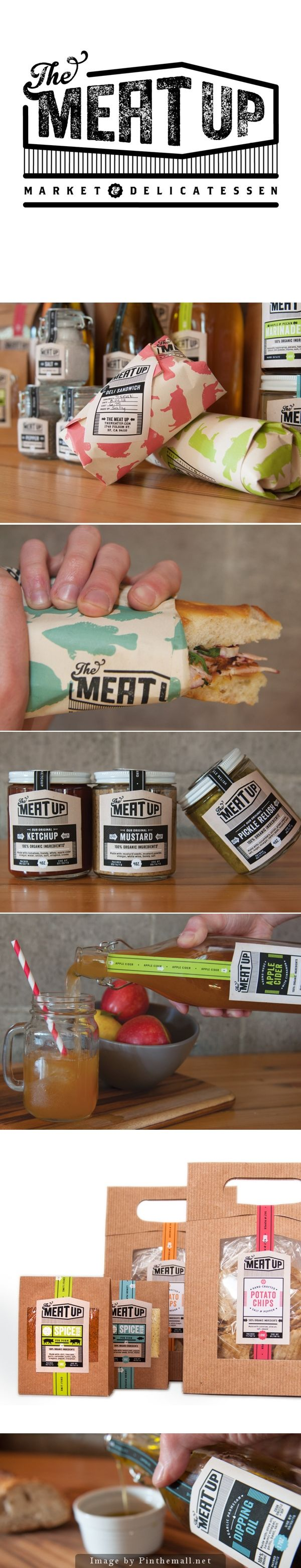 Identity / packaging / The Meat Up by Andrea Falke