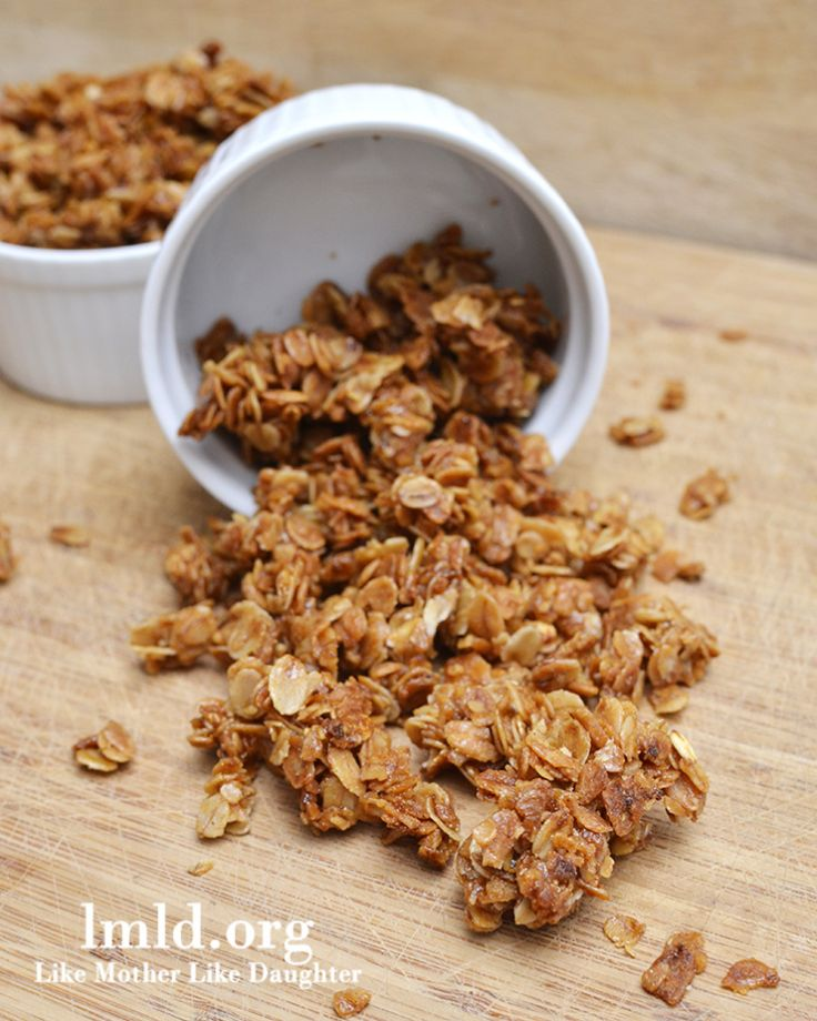 Brown sugar, honey, canola oil, oats, cinnamon granola
