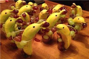Vrolijke én gezonde dolfijntjes! #traktatie #banaan #kinderen