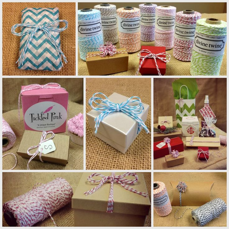 Learn how to make these cute bakers twine mini poms and favor boxes in this short video... http://www.nashvillewrapscommunity.com/blog/2013/08/bakers-twine-favor-boxes-craft-ideas/ #bakerstwine #bakerstwinepom #cutefavorboxes