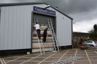 A Sign Makers Blog: Vinyl Wrapping a Roller Shutter Door