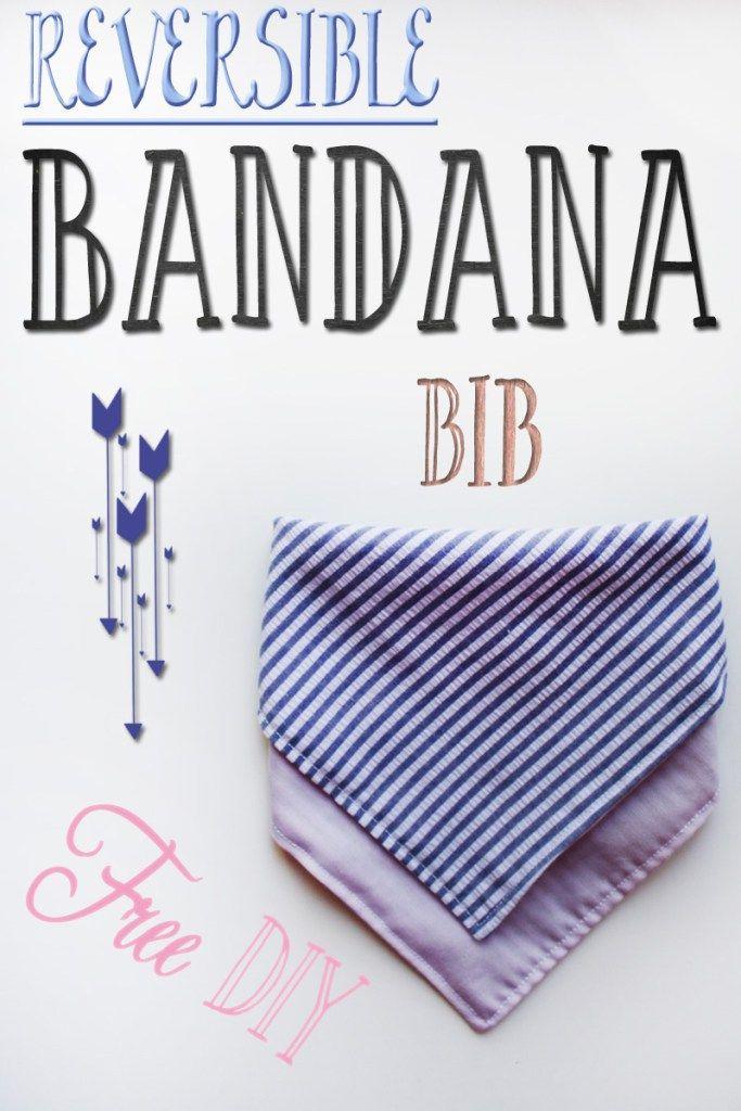 Free Reversible Bandana Bib Tutorial/DIY  #bandanabib #diy #goteamflourish…