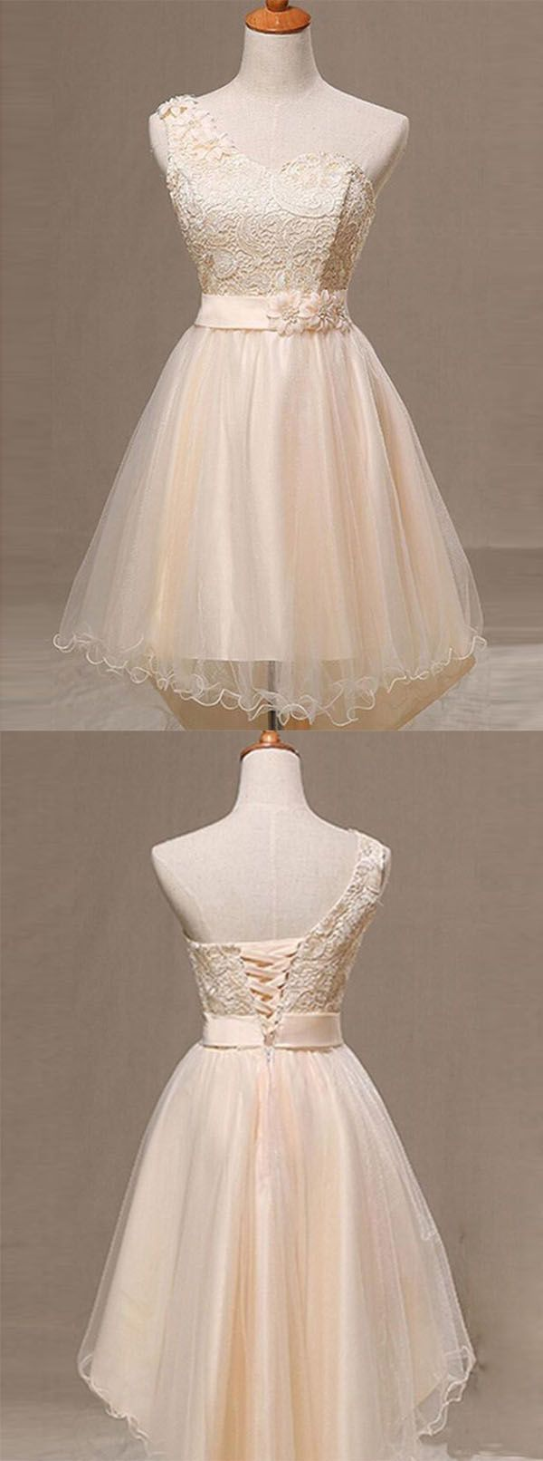 https://www.dresstells.com/a-line-one-shoulder-champagne-organza-homecoming-dress-with-flower-lace-pleats.html    One shoulder sweetheart neckline tulle dress
