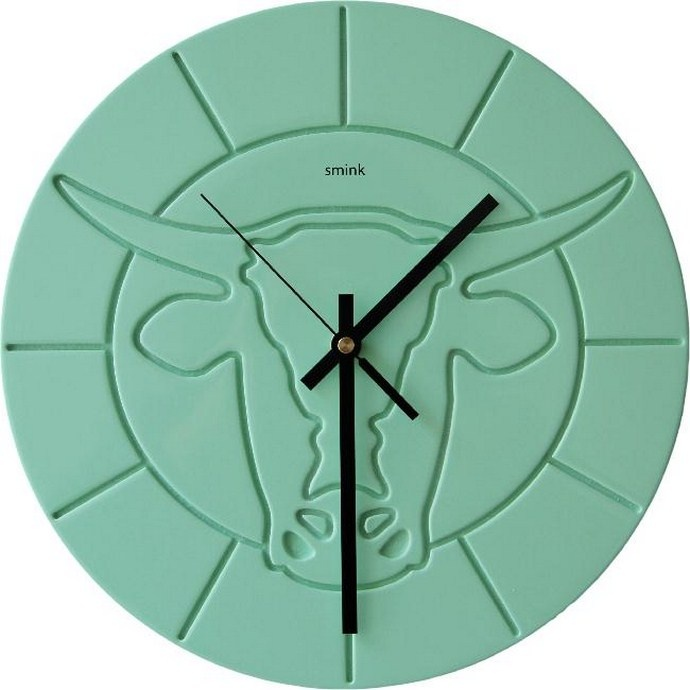 Pop Cow Clocks, inspired by the Nguni cattle in the Karoo. From Smink, R995 ($131).