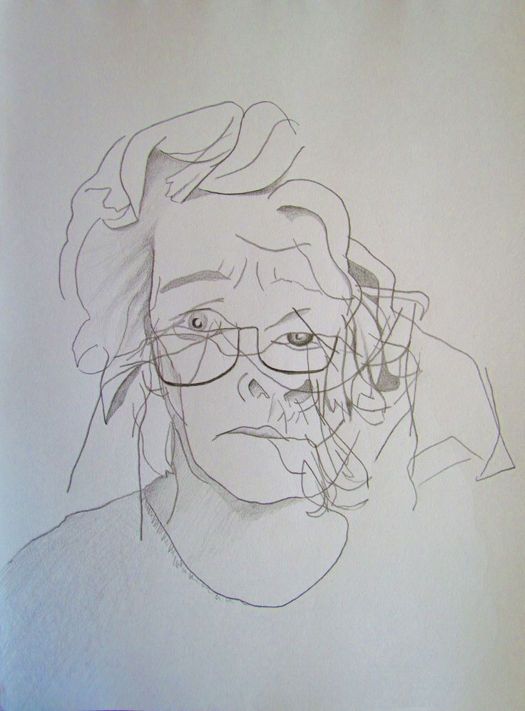 Kare Grayson. Blind drawing.