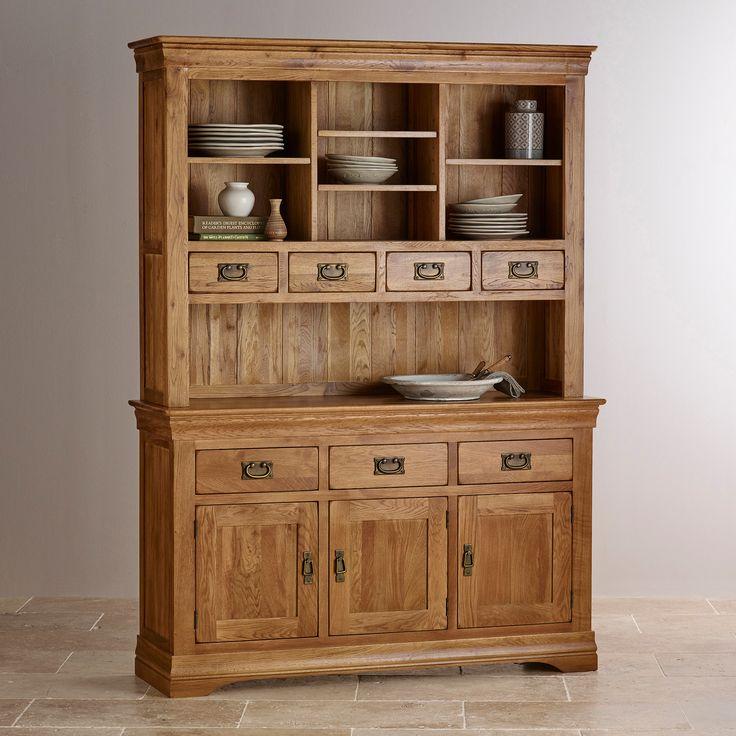 French Farmhouse Rustic Solid Oak Large Dresser. Best 25  Large dresser ideas on Pinterest   White furniture