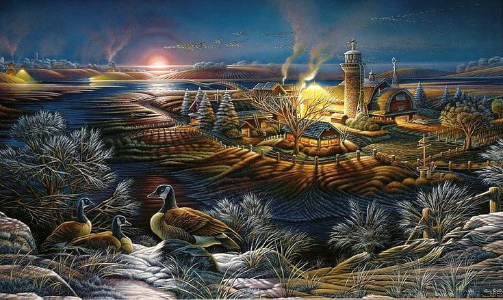 Fall Cottage Wallpaper 26 Best Terry Redlin Jigsaw Puzzles Images On Pinterest