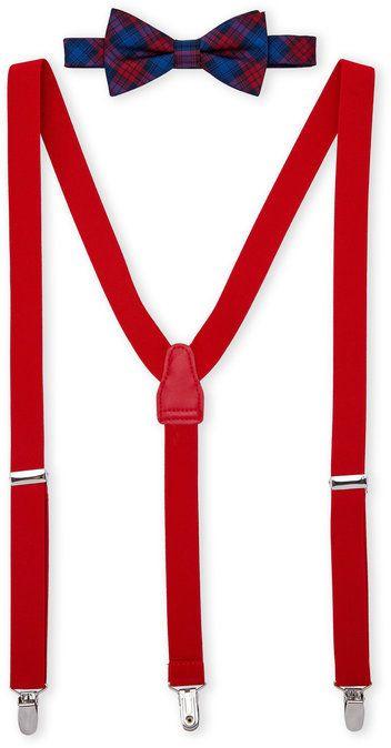 Countess Mara Tartan Bow Tie & Suspender Set