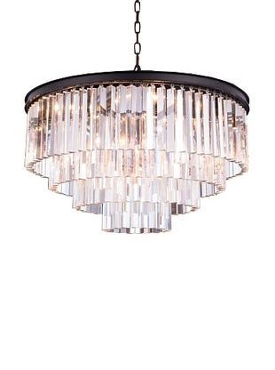 75% OFF Urban Lights Ice Curtain Pendant, Medium, Bronze