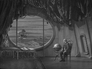 Vynález zkázy/ The Fabulous World of Jules Verne (1958, dir. Karel Zeman). Production Design Karel Zeman. Set decoration Zdenek Rozkopal.