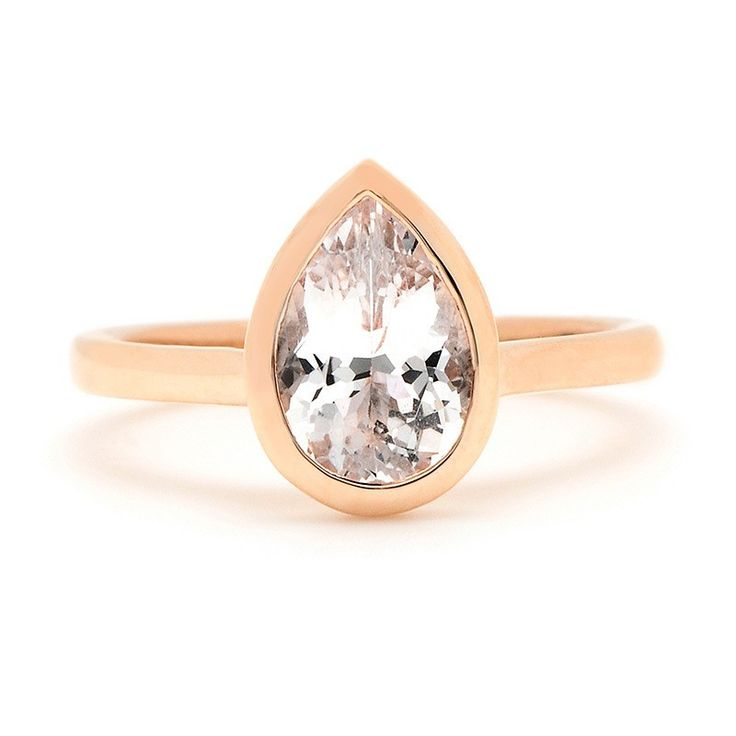 Sholdt Pear-Shaped Engagement Ring Setting in Rose Gold