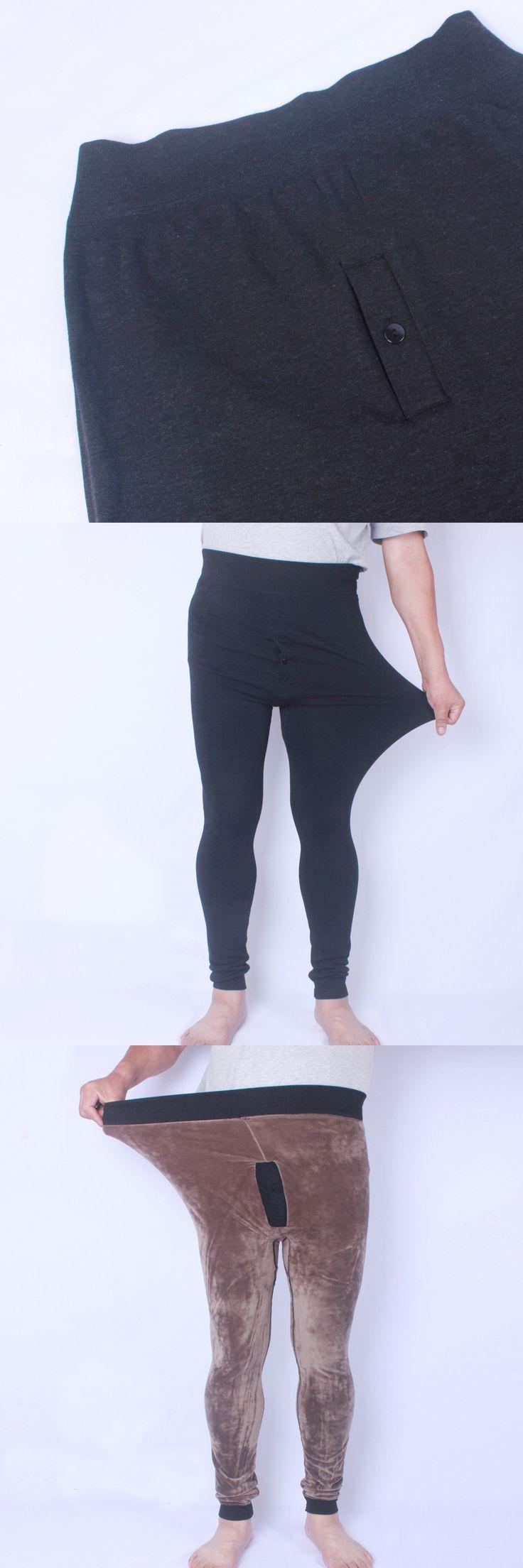 Men's Winter Super Thick Legging Pants Large One Size XXXXL Warm Soft Cotton Underwear Seamless Elastic Male Pants Fit Russia