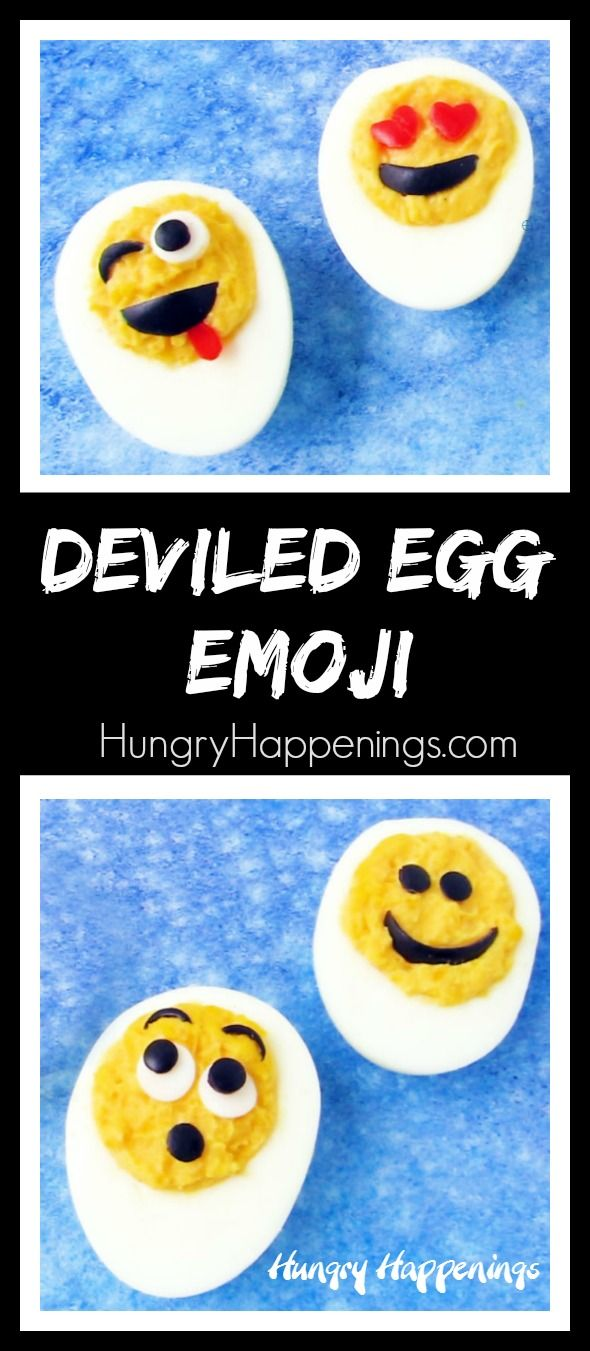 Bring some smiles to the table when you serve Deviled Egg Emoji. These fun appetizers are great for Easter, picnics, or potlucks and are easy to make using black olives and sweet red bell peppers.