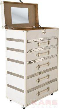 Dresser Diva Make Up Croco 5 Drawers