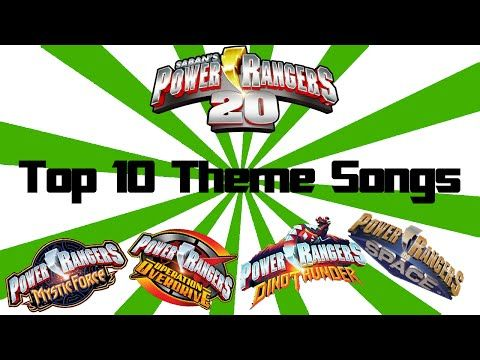 Top 10 Power Rangers Theme Songs of All Time! - YouTube