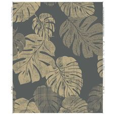 Wilko Wallpaper Cheese Plant Charcoal and Gold