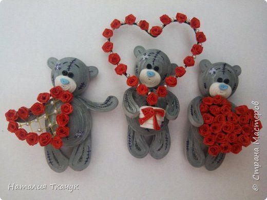 С ПРАЗДНИКОМ СВЯТОГО ВАЛЕНТИНА!!! Магниты - Мишки Тедди.