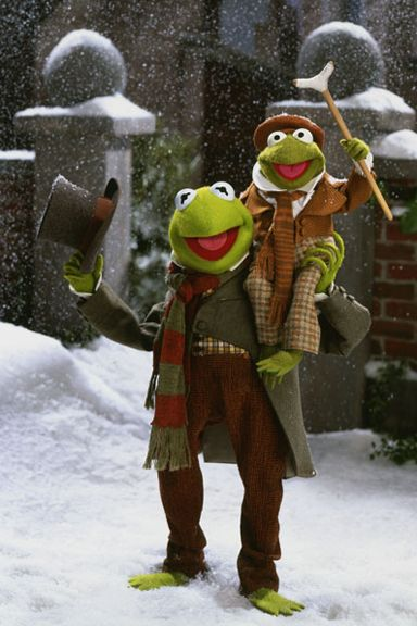 kerm-y...Bob Cratchit and Tiny Tim from THE MUPPETS CHRISTMAS CAROL.
