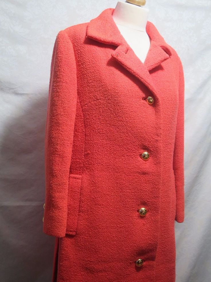 Aquascutum coral orange 90s coat.