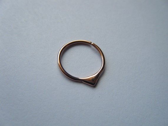 14 Karat Pink Gold Fin Nose Hoop in 20g by aprilsblissed on Etsy, $70.00