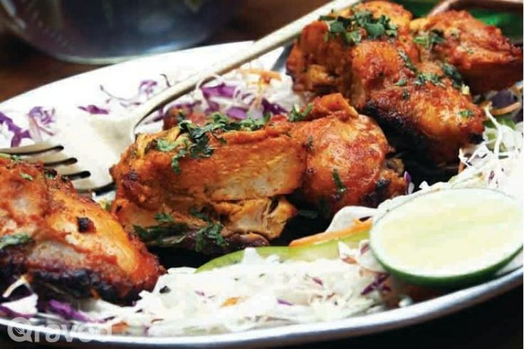 Tandori Chicken Roasted at Hazara Restaurant