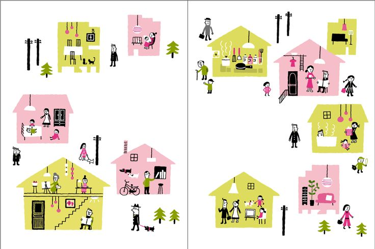 family illustration 家族のイラスト