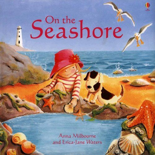 3.25.2015.  On the Seashore by Anna Milbourne (January 2006).   This Usborne picture book is a wonderful, fact-filled story that focuses a lot on hermit crabs.  It would be fun to pair it with the book Moving Day and our hermit crab puppet.