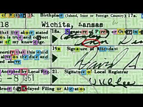 Hidden Messages From Obama Birth Certificate Forger - Decoding The Duplicates