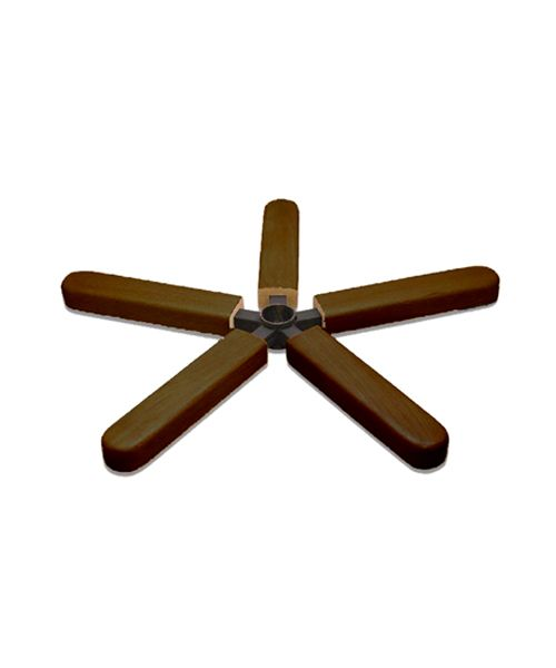 Крестовина металлическая с деревянными накладками