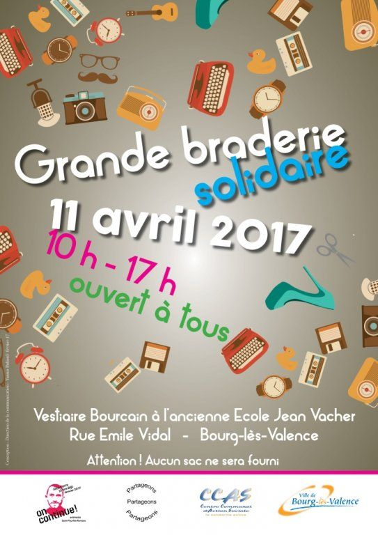 Grande braderie solidaire, Bourg-lès-Valence (26500), Drôme