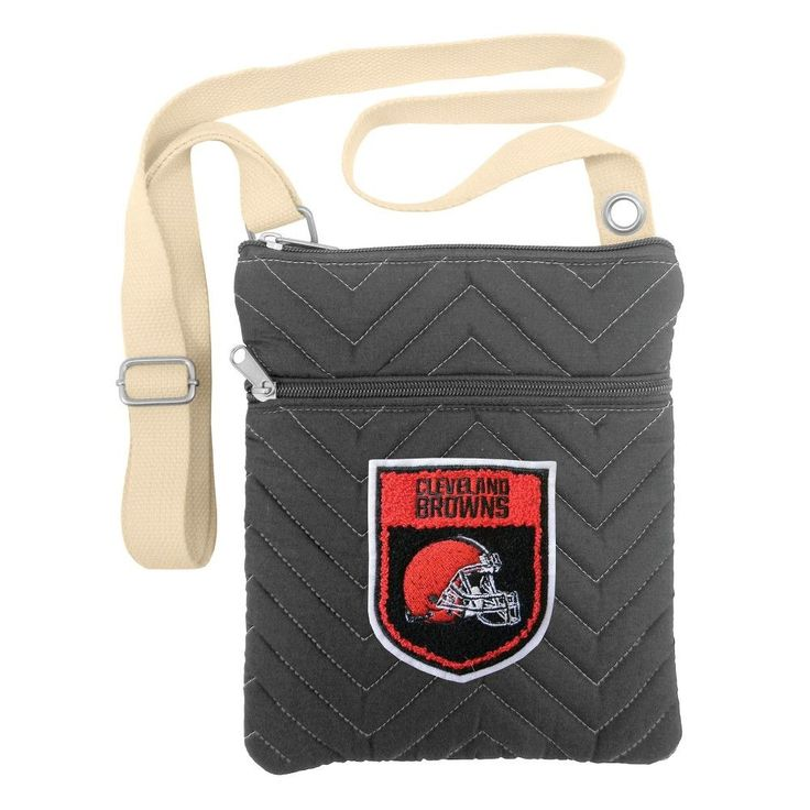 NFL Cleveland Browns Chev-Stitch Crossbody Bag, Women's