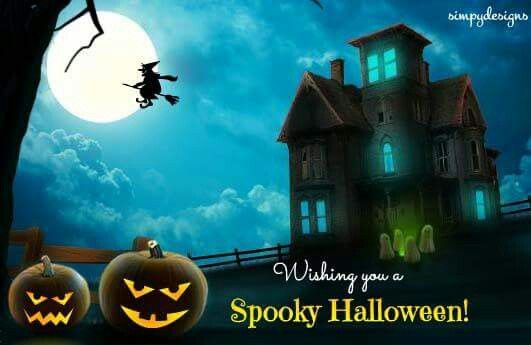 Free Online Wishing A Spooky Halloween Ecards On Halloween