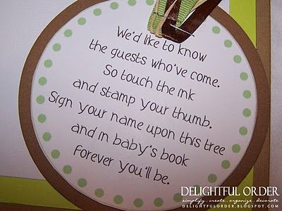 Cute poem...Leave your thumbprint at the baby shower.