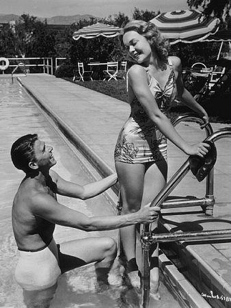 Ronald Reagan and wife Jane Wyman C. 1940