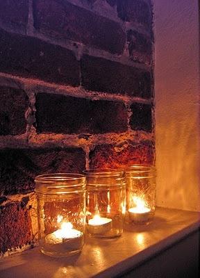 mason jar tealight holders