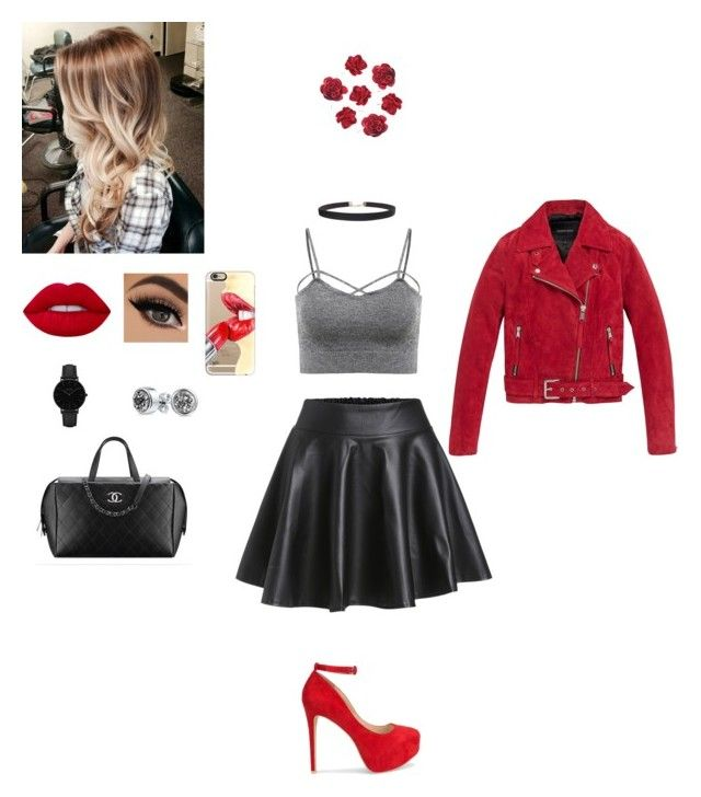"""""""Red"""" by itsalyssianicole ❤ liked on Polyvore featuring Andrew Marc, Nly Shoes, Lime Crime, Humble Chic, CLUSE, Bling Jewelry and Casetify"""