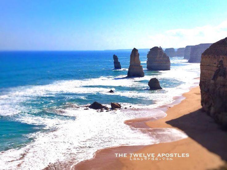 The Great Ocean Road: Dwarfed by the crumbling pillars of the Twelve Apostles