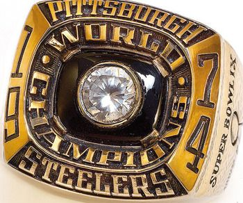 Pittsburgh Steelers Super Bowl IX Championship Ring.