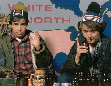"""Bob & Doug McKenzie are a pair of fictional Canadian brothers who hosted """"Great White North"""", a sketch which was introduced on SCTV for the show's third season when it moved to CBC Television in 1980. Bob is played by Rick Moranis and Doug is played by Dave Thomas. The duo became a pop culture phenomenon in both the United States and Canada.  The characters were later revived for an animated series, Bob & Doug, which premiered on Global in 2009."""