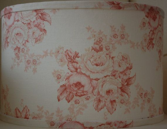 Laura Ashley Pink Cabbage Roses Fabric Lampshade by CottageShades, $75.00