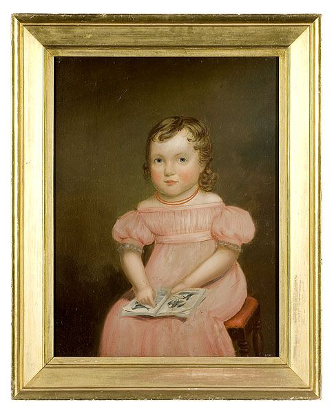 American School, Portrait of a Little Girl with Book, - Cowans Auctions#Repin By:Pinterest++ for iPad#