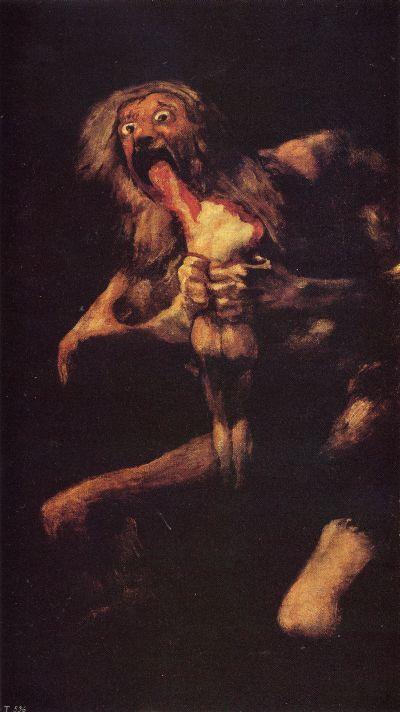 Saturn devouring one of his children-Francisco Goya  - 1819-1823