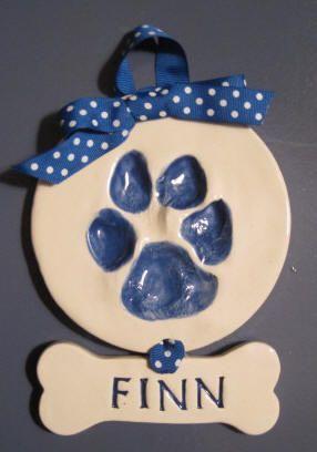 Cutie Pies Clay Print Keepsakes - Ceramic Paw Print Canine Keepsakes