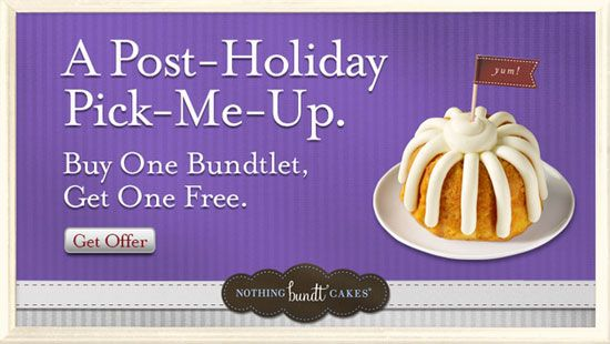 Nothing Bundt Cakes Coupon - Buy one, get one FREE Bundtlet cake – Queen Bee Coupons