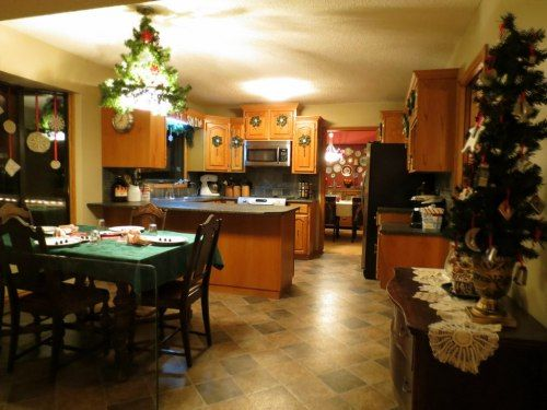 Christmas kitchen and dining