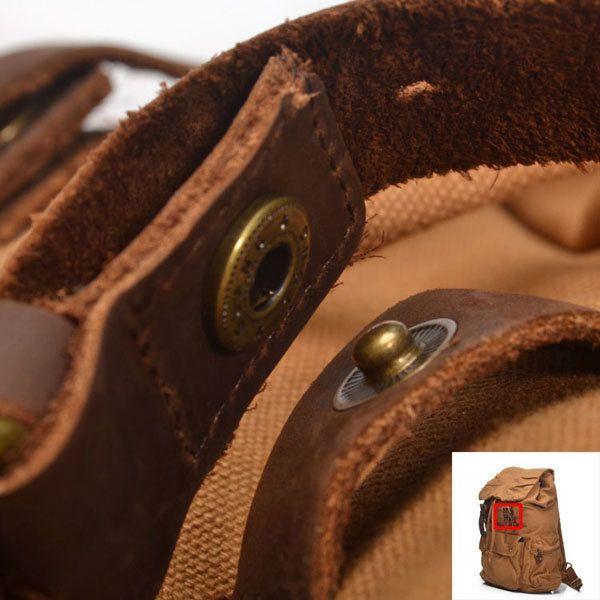 Men Women Vintage Canvas Backpack Rucksack Mountaineering Backpack - US$36.75