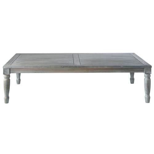 Tavolo basso grigio da giardino in acacia L 140 cm