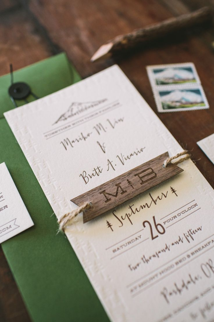 Rustic Tree And Mountain Letterpress Wedding Invitation By WideEyesPaperCo  On Etsy Https://www