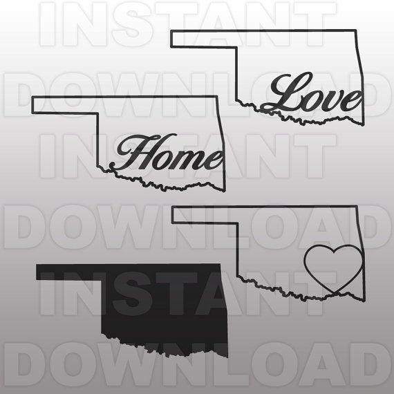 Oklahoma Home SVG File-Cutting Template-Vector Clip Art by sammo