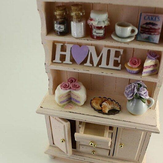 Shabby chic dollhouse cabinet 💗